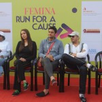 Corina Manuel, Pooja Mishra, Manav Gohil & Ali Quli at the 'Femina Marathon-Run to Save The Girl Child'