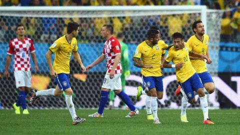 Neymar and Oscar light up the opening day of the FIFA World Cup 2014