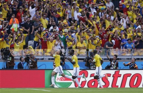 Colombia has it easy against Greece