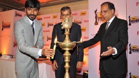 "Dhanush at the ""61st Idea Filmfare Awards 2013"" Press Conference"