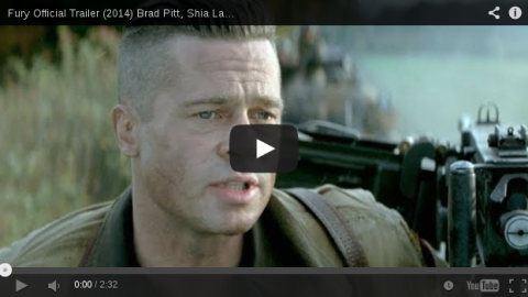 The trailer of Brad Pitt starrer war movie 'Fury' is buzzing online