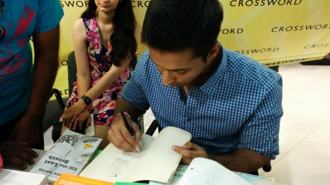 Best-selling author Durjoy Datta's day-out in Ahmedabad