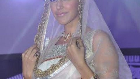 Neha Dhupia walked as a Showstopper at Indian Wedding Couture