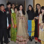 Show-stopper Sridevi with Jewellery Designer Vijay Golecha's Family after the show