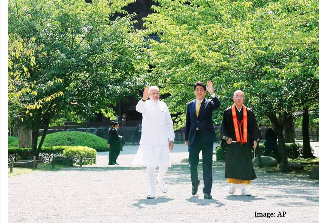 PM Modi visits ancient Toji Temple in Japan