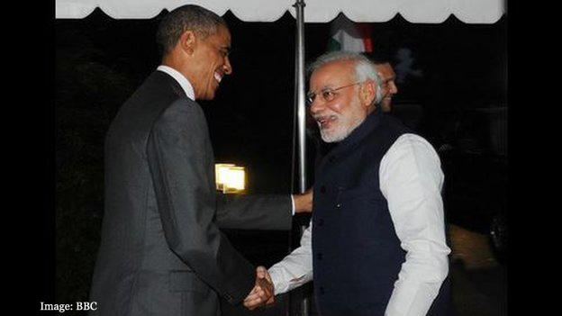 Modi meets Obama at White House