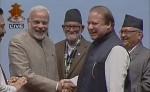 Finally Modi, Sharif Shake Hands at SAARC