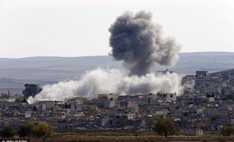 IS sites in Iraq and Syria targeted and attacked