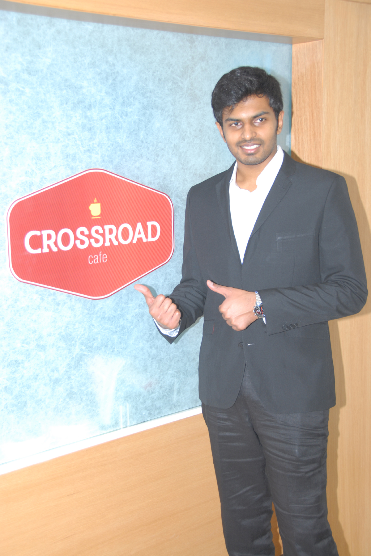 Mr. Karteesh Reddy Madgula - Executive Director at the launch of Crossroad Cafe