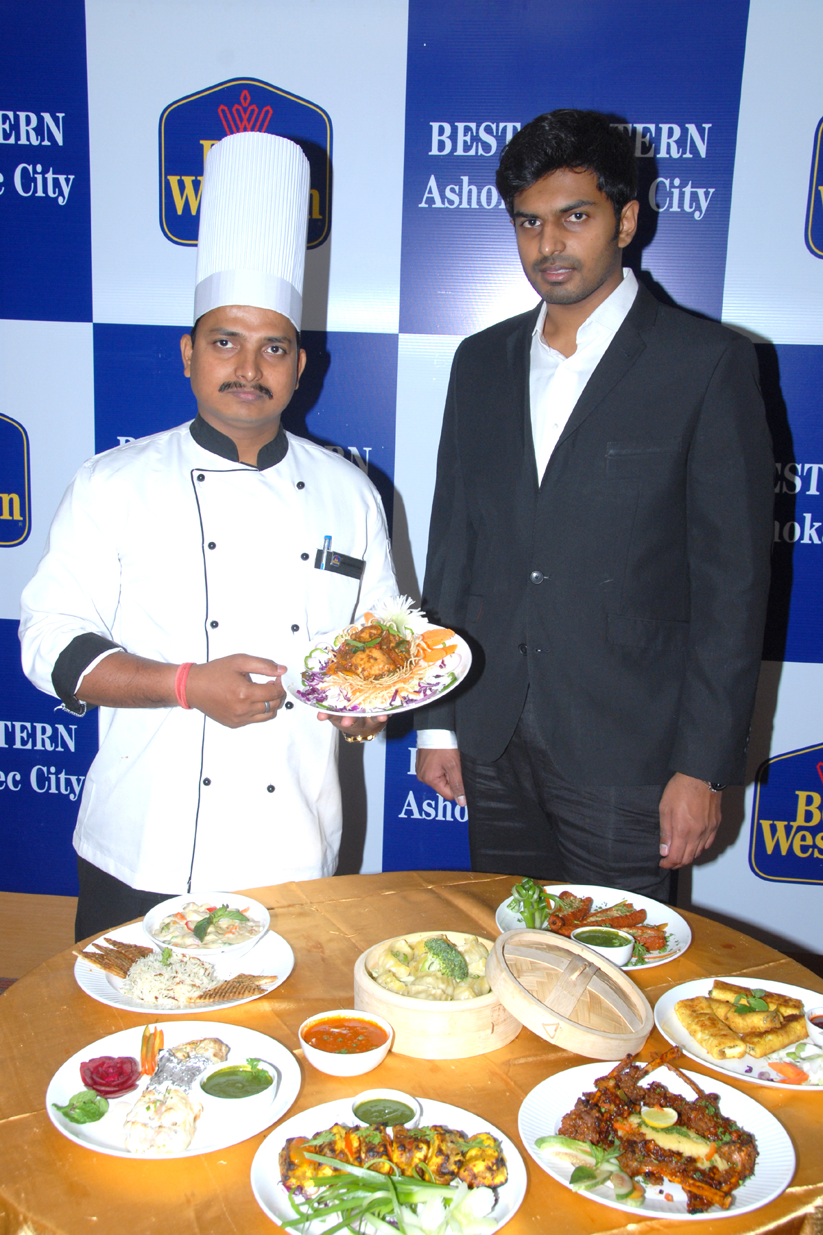 Mr. Ram Chandra Ram- Executive Chef & Mr. Karteesh Reddy Madgula - ED at the launch of Crossroad Cafe