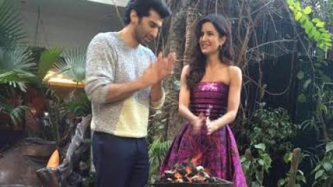 Aditya makes a bon fire for co star Katrina Kaif