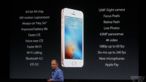 Apple launches iPhone SE — an iPhone 6s in a 5s body