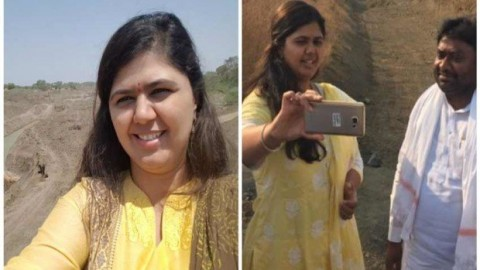 It seems 'drought selfie' was necessary for Minister Pankaja Munde