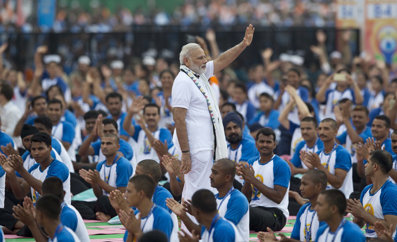 PM and President led International Yoga day celebrations in Chandigarh and  Rashtrapati Bhavan respectively