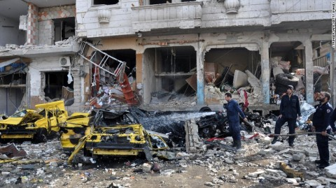 4 killed as mass bombing strikes in Syria