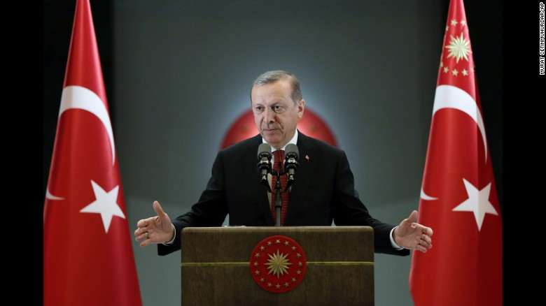 Three months emergency imposed after failed military, says Turkish President