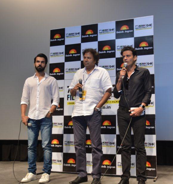 Manoj Bajpayee and Rajkummar Rao attend the 7th Jagran Film Festival in Delhi