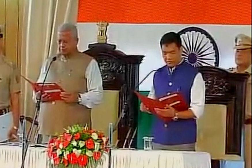Pema Khandu takes oath as Chief Minister of Arunachal Pradesh