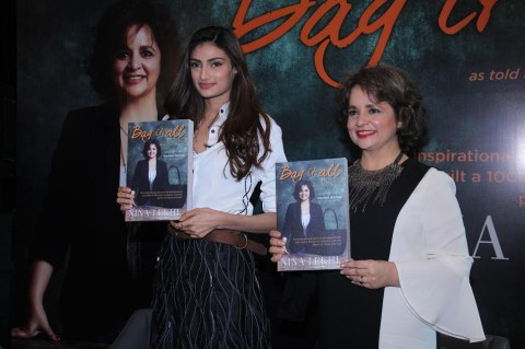 Athiya Shetty launches Nina Lekhi's biography 'Bag It All'